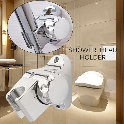 1Pc Bathroom Shower Head Wall Mount Bracket Holder Chrome ABS Adjustable