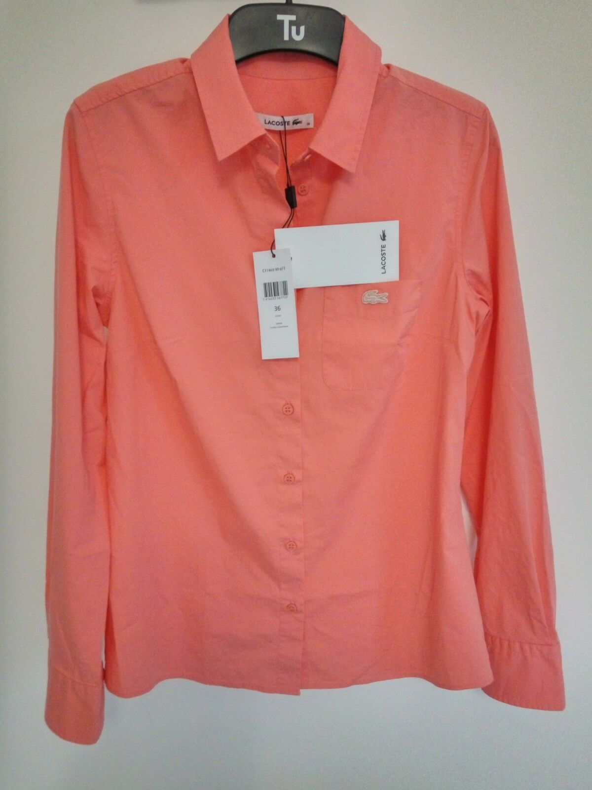Woherren LACOSTE Stretch Top Shirt Salmon Farbe Größe S   BNWT - RRP