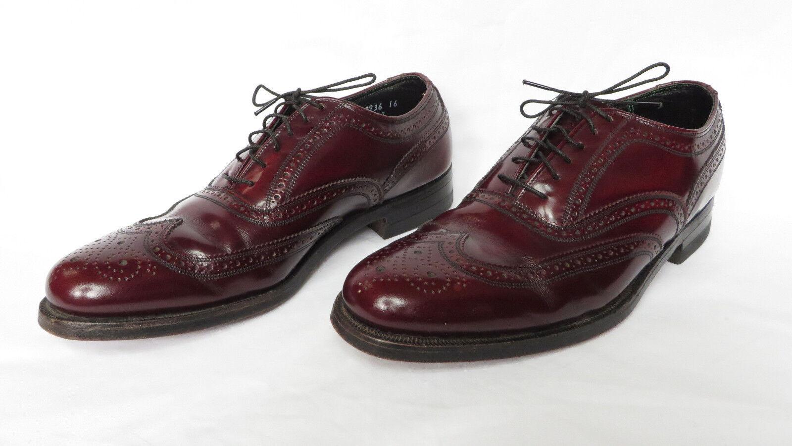 FLORSHEIM Imperial Calidad para Hombre Marrón Borgoña Ala Punta corte inglés Oxford Zapatos 8 D