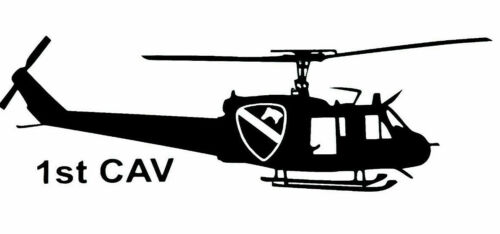U.S ARMY 1st CAV UH-1 Helicopter STICKER DECAL Buy 2 get 1 Free  AUTOMATICALLY