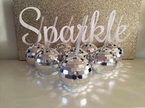 2017 New Years Eve Party Disco Ball Sparkle Cup Confetti Photo Booth Decoration