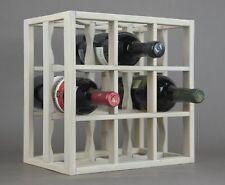 Victoria Wine Rack 12 bottles Solid Wood  Smoked color Countertop