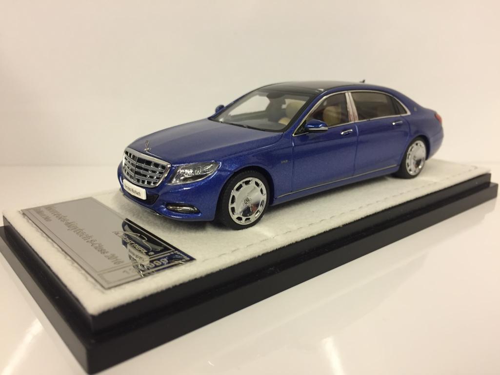 Quasi reale 420105 Mercedes-MAYBACH S-Class 2016-blu scala 1:43
