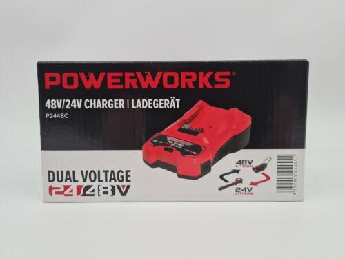 Powerworks Akku P2448C 24V 48V Charger Ladegerät Blitzversand
