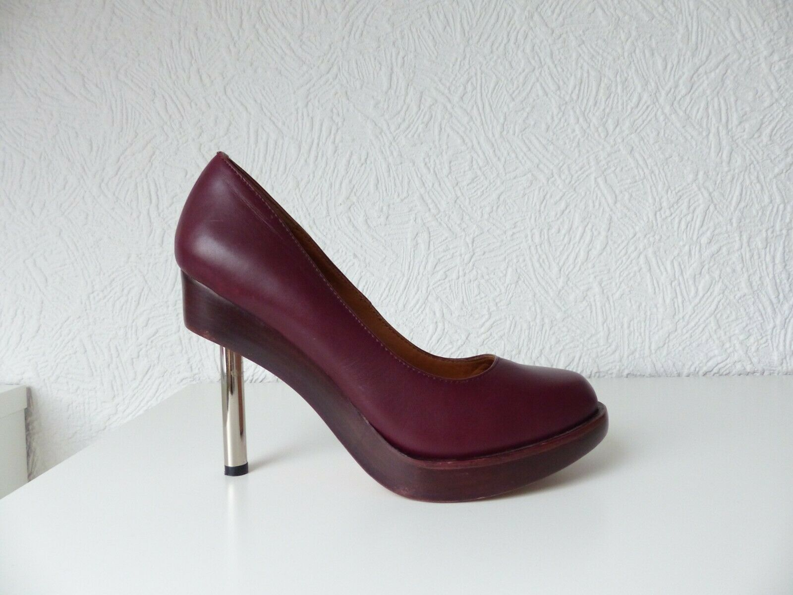 & Other Stories Pumps dunkelrot bordeaux silber Gr. 38 Neupreis