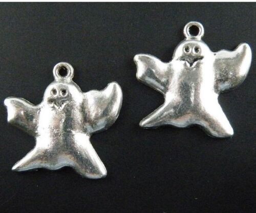 60pcs Tibetan Silver Ghosts Charms Craft DIY 22.5x23.5mm 1876