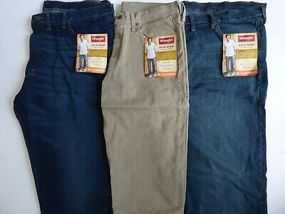 Mens Wrangler Five Star Relaxed Fit Jean with Flex Size Regular & Big | eBay