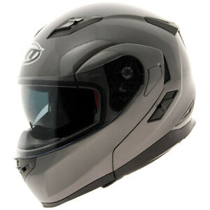 Adult-Motorcycle-MT-Flux-Solid-Gloss-Anthracite-Helmet-XL-CLEARANCE-BC30622