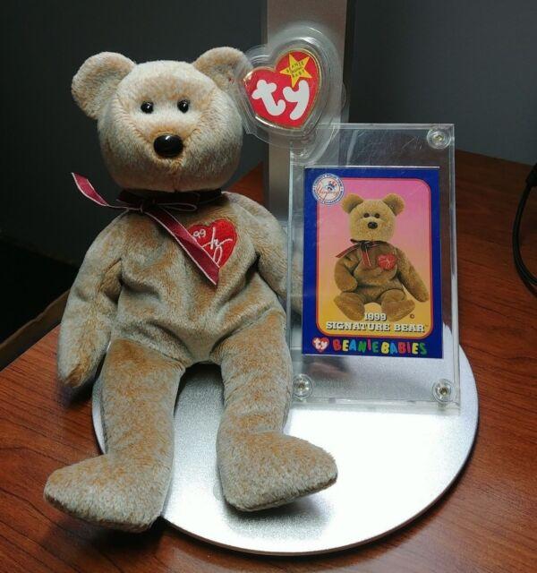 1567 NEW YORK YANKEES TY BEANIE BABIES 1999 SIGNATURE BEAR WITH CARD NYY NY eb381e17112