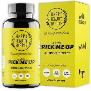 Natural Energy Supplement – Happy Healthy Hippie Plant Based Caffeine Free En...