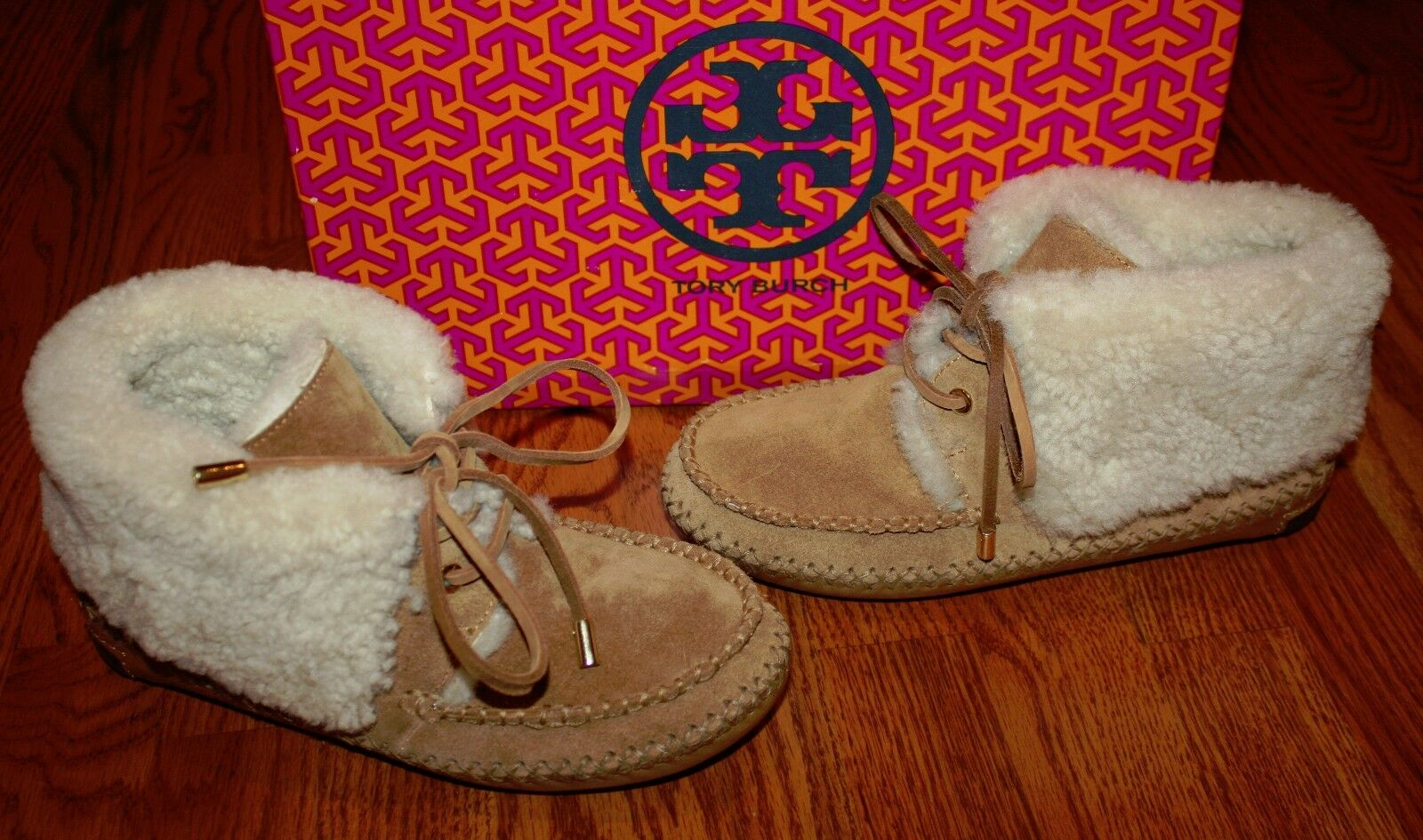 NIB Nordstrom Womens Tory Burch Vicuna Chestnut Nathan Flat Bootie Shoes Size 7