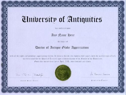 Doctor Antique Globe Appreciation Novelty Diploma