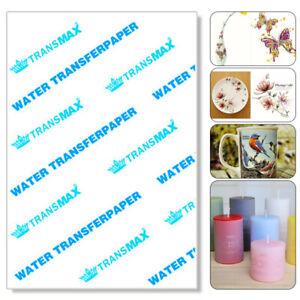 TEN PACK SIZES Water Slide Decal Paper A4 INKJET Waterslide Transfer Paper