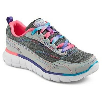 YOUTH NWT! SPORT BY SKECHERS S UNBROKEN GIRLS SHOES RAINBOW ATHLETIC SNEAKER