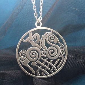 Sleipnir Odin Medallion Amulet Thor Loki Asgard Horse