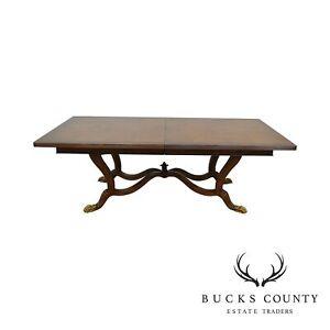 Details About Ferguson Copeland Regency Style Large Burl Wood Blenheim Dining Table