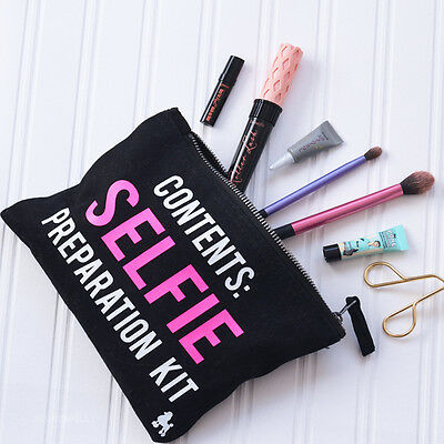 Selfie Preparation Make Up Bag - Slogan Beauty Gift - Wash Bag Accessory - Gift