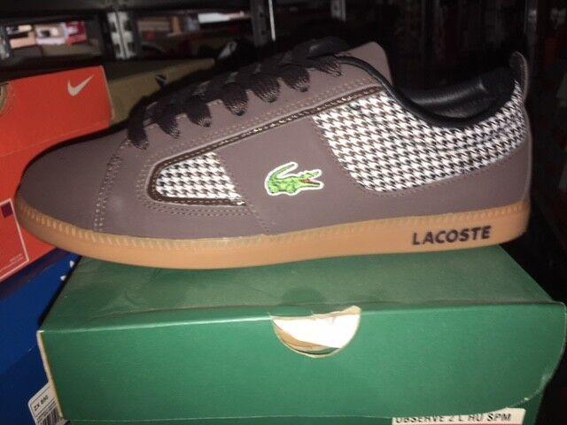 Lacoste observe 2 l hu SPM Leather marrón marrón nuevo gr 39, 5 vida cotidiana zapatos cortos