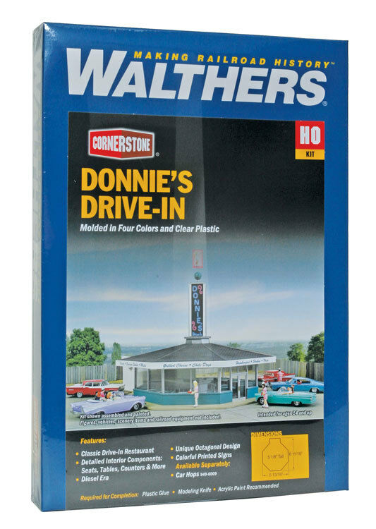 Walthers Cornerstone Donnie's Drive-In  933-3474   HO