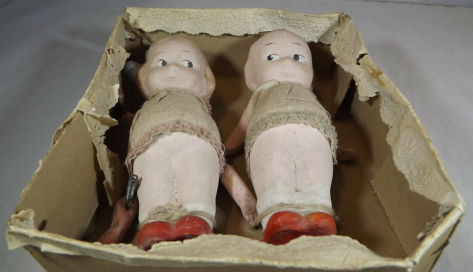 Pair Pair Pair of Boxed Vintage 12cm Kewpie-Style Composition Dolls Probably Japanese befc17