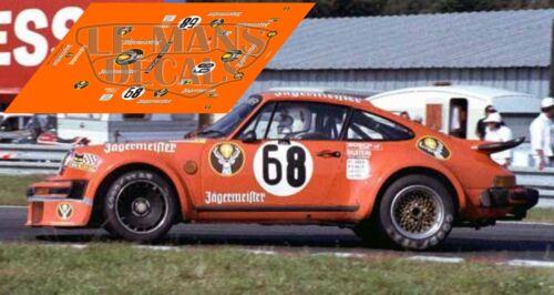Calcas Porsche 934 Le Mans 1978 68 1:32 1:43 1:24 1:18 64 87 decals