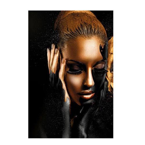 Canvas  Art  Oil Painting Black gold Women Kids  Decor Prints  Poster  Room