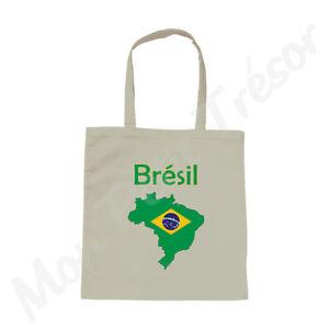 Brésil Coton Carte Femme Brésilien Blanc Du Drapeau Sac Brasil UqfBU