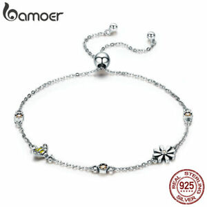 Bamoer-925-Sterling-Silver-Bracelet-adjustable-Chain-dancing-Bee-With-CZ-Women