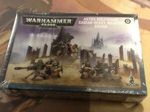 40K-Warhammer-Astra-Militarum-Cadian-Heavy-Weapon-Squad-NIB-Sealed