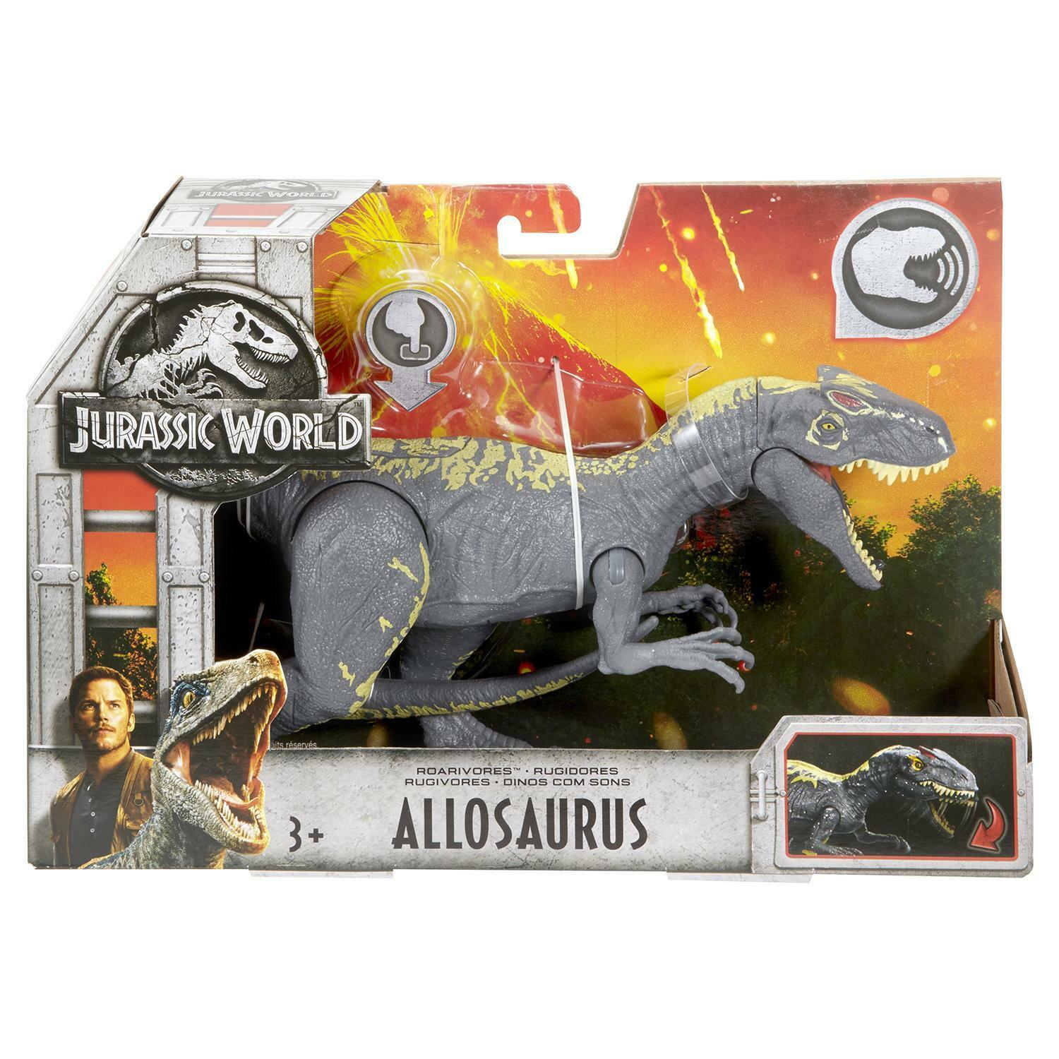 Jurassic World World World Allosaurus Play Set Mattel New 707c2d