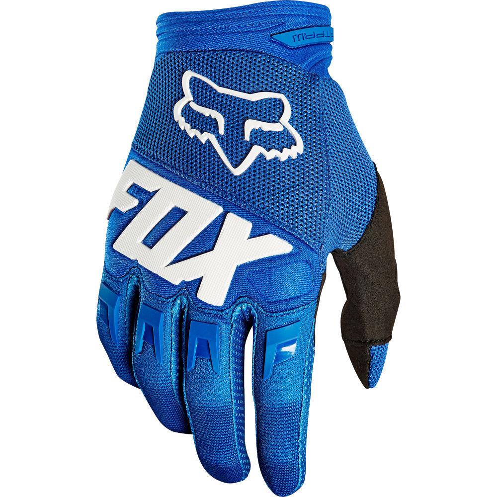 FOX DIRTPAW RACE MTB Downhill Motocross lange Handschuhe blue 2019