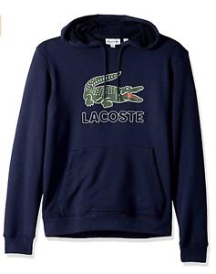 Lacoste Big Croc Logo Hoodie # SH6342 51 166 Navy 2019 New Style Men SZ S 3XL