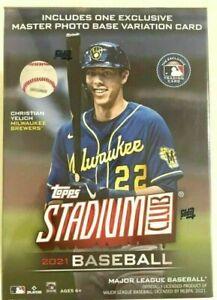 2021 Topps Stadium Club Baseball Card Blaster Box Factory Sealed Chrome New