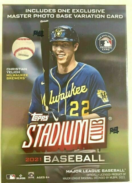 Topps Stadium Club 2021 MLB Blaster Box 40 Cards, 1 Master Photo Base Lots Of 6 - $215.00
