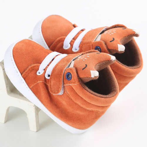 Toddler Baby Girl Boys Crib Shoes Anti-slip Sneaker Soft Sole Pram Prewalker YW