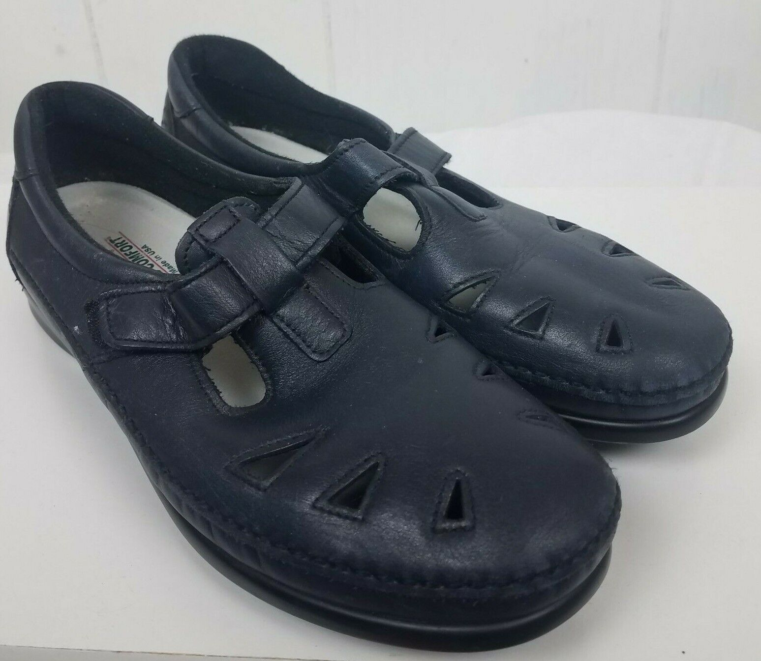 SAS Roamer Womens 10.5 M Navy bluee Leather Mary Jane Comfort Loafer shoes