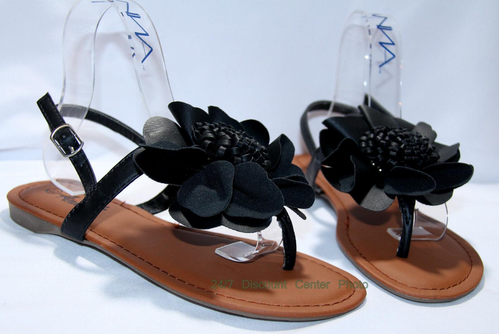 Women Floral  Sandals Szs: 5.5- 10  Floral Black White Tan,  Summer Sandals 4f079e
