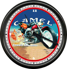 Joe Camel Biker Motorcycle Cigarette Sign Wall Clock