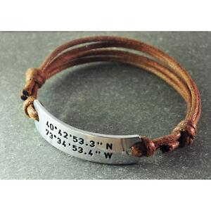 Image Is Loading Personalized Coordinates Bracelet Custom Laude And Longitude