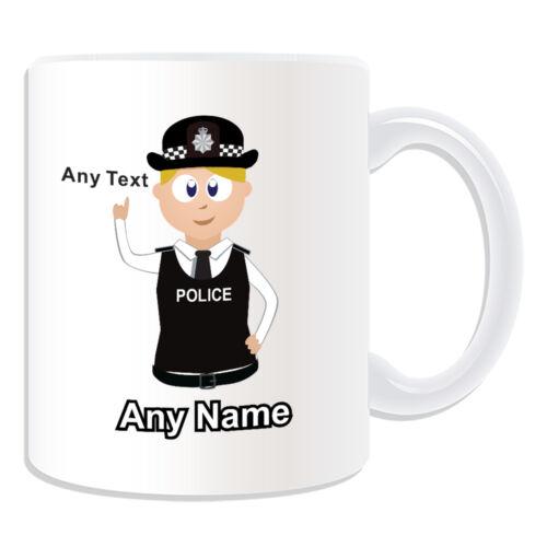 Personalised Gift Blonde Hair Policewomen Mug Money Box Cup PC SGT INSP CID Girl