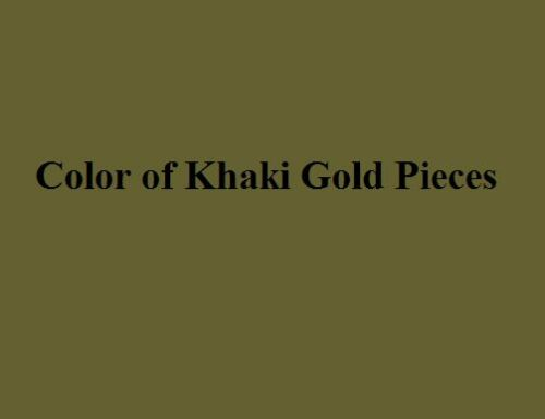 Set of 34 Army Green /& Khaki Gold Staunton Single Weight Chess Pieces