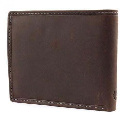 bugatti Hunter RFID Coin Wallet with Flap Metal Logo 8CC Geldbörse Brown Braun