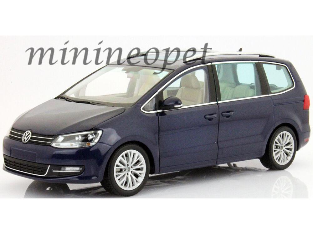 MINICHAMPS 110-051000 2010 VW VOLKSWAGEN SHARAN VAN 1 18 DIECAST MODEL CAR blueE