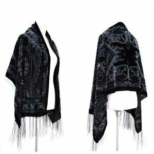 New-Elegant-Multi-Color-Vintage-Floral-Silk-Burnout-Velvet-Scarf-Shawl-Wrap