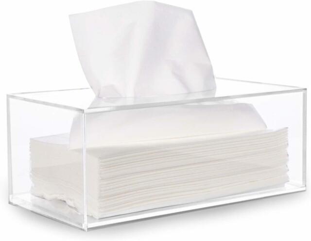Retro Rectangular Waterproof Tissue Box Cover Holder,Fit Office Kitchen Car Bath