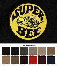 Lloyd Mats Dodge Charger Super Bee Logo Velourtex Front Floor Mats (2006 & Up)