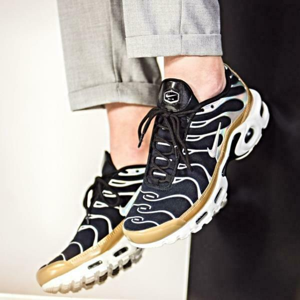NIKE AIR MAX PLUS TN  ALUMINIUM Gold  (605112 055) UNISEX TRAINERS UK 7 EU 41 Ruf zuerst