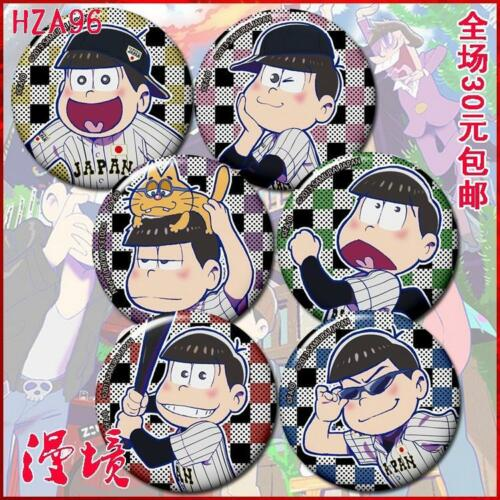 Summer  Anime Osomatsu-san Brooch Cosplay  Material Tinplate 6PCS Art