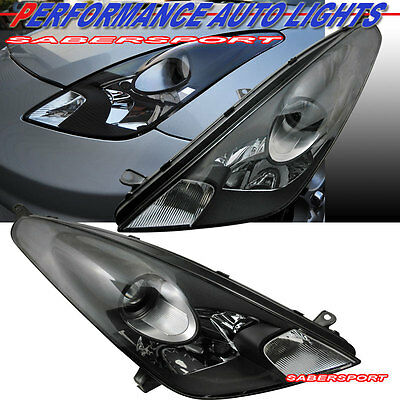 2000-2005 TOYOTA CELICA GT GTS BLACK HOUSING PROJECTOR HEADLIGHTS PAIR