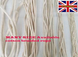 2mm -14mm BRAIDED 100% Cotton Rope Cord String DIY SASH Bag Bondage ... 618dd27acd2d